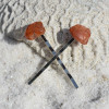 Carnelian Stone Hair Pins