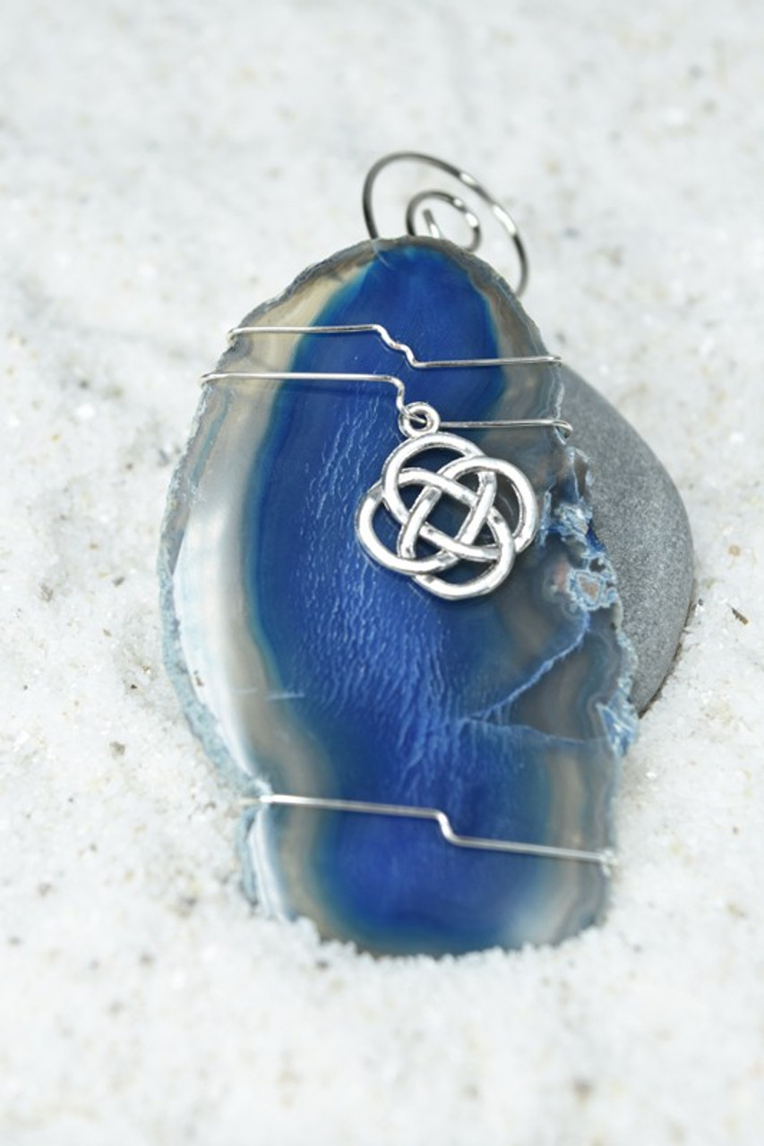 Wire Wrapped Celtic Knot Christmas Ornament