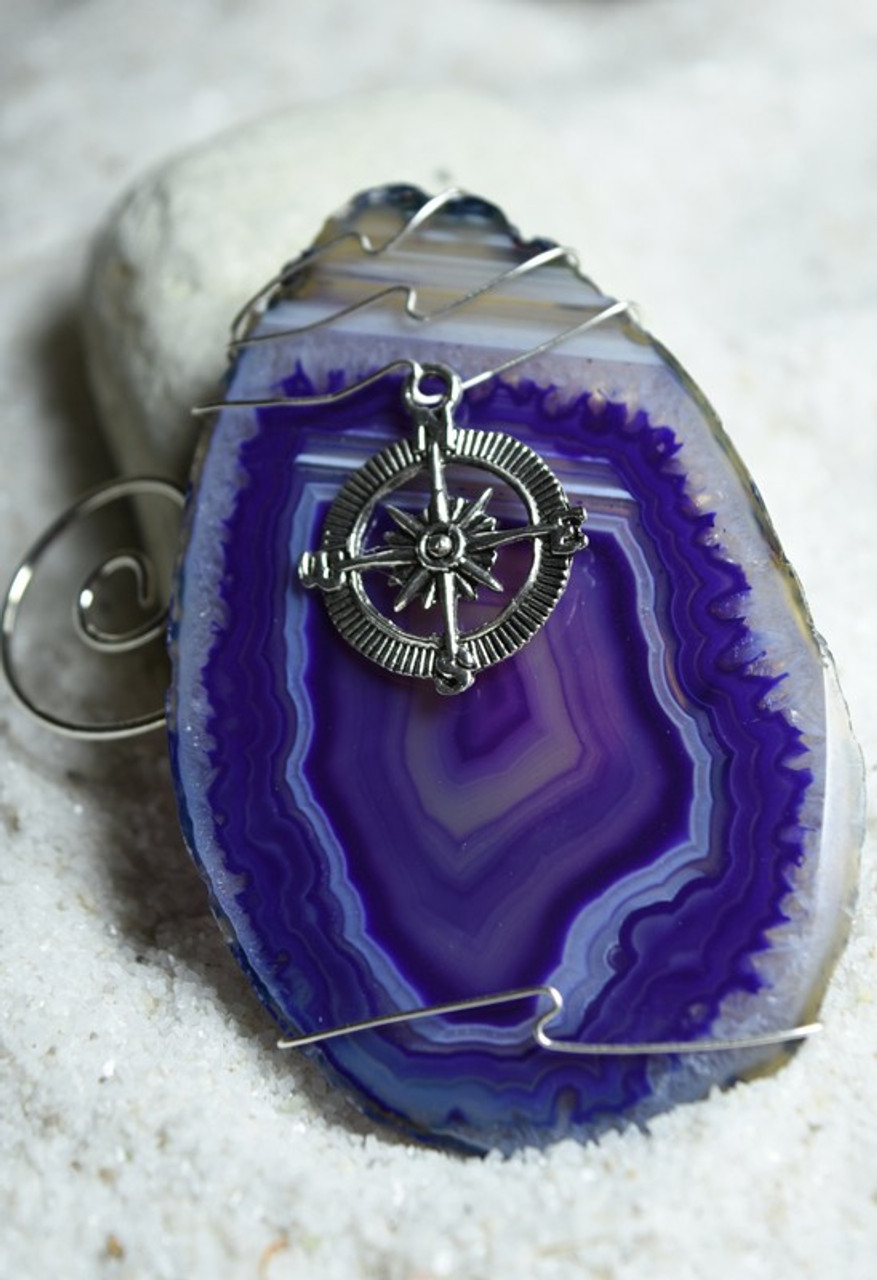 Wire Wrapped Compass Ornament