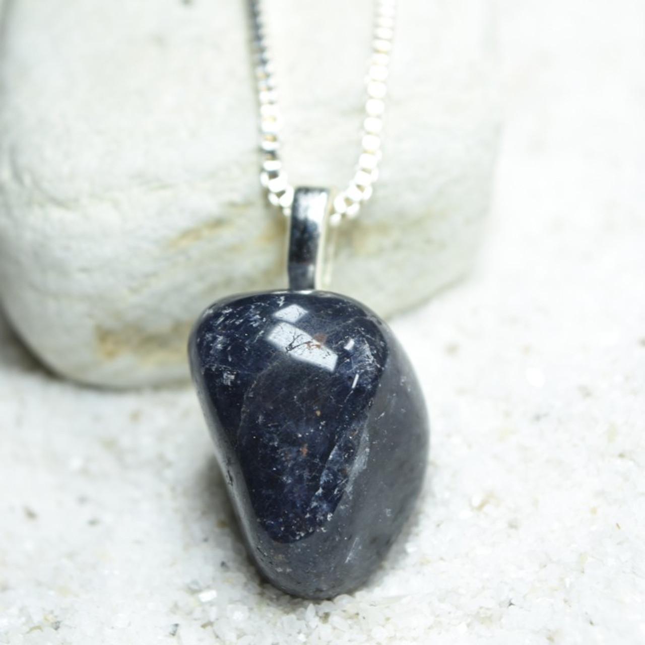 Iolite Stone Pendant