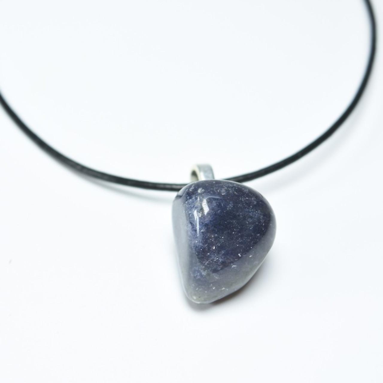 Tumbled Iolite Stone Necklace