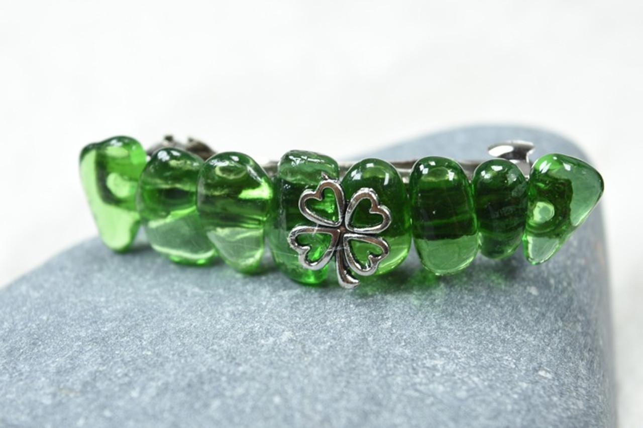 Irish Shamrock Green Hair Clip