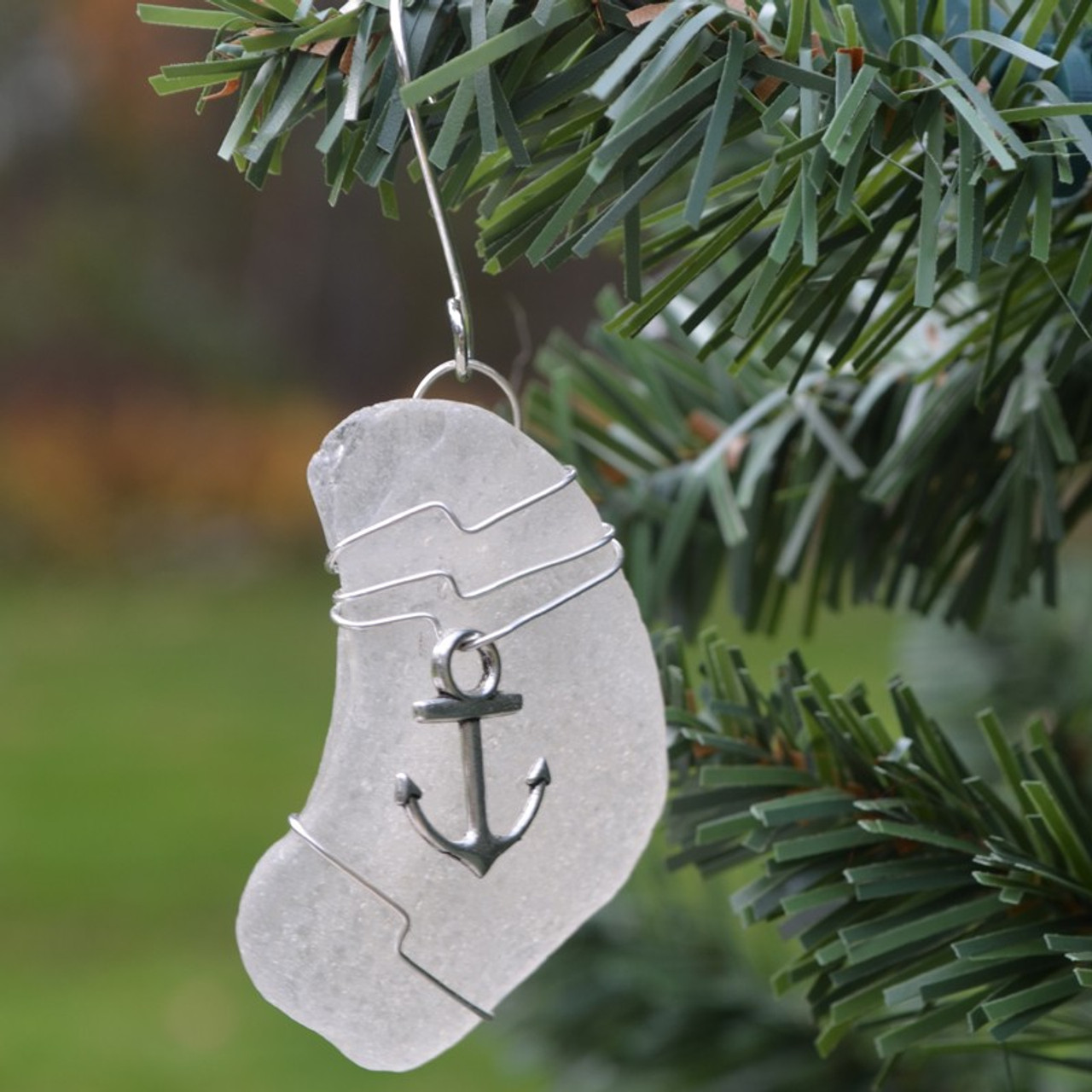 Wire Wrapped Anchor Ornament