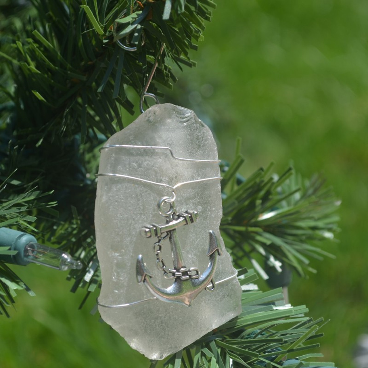 Wire Wrapped Anchor Suncatcher