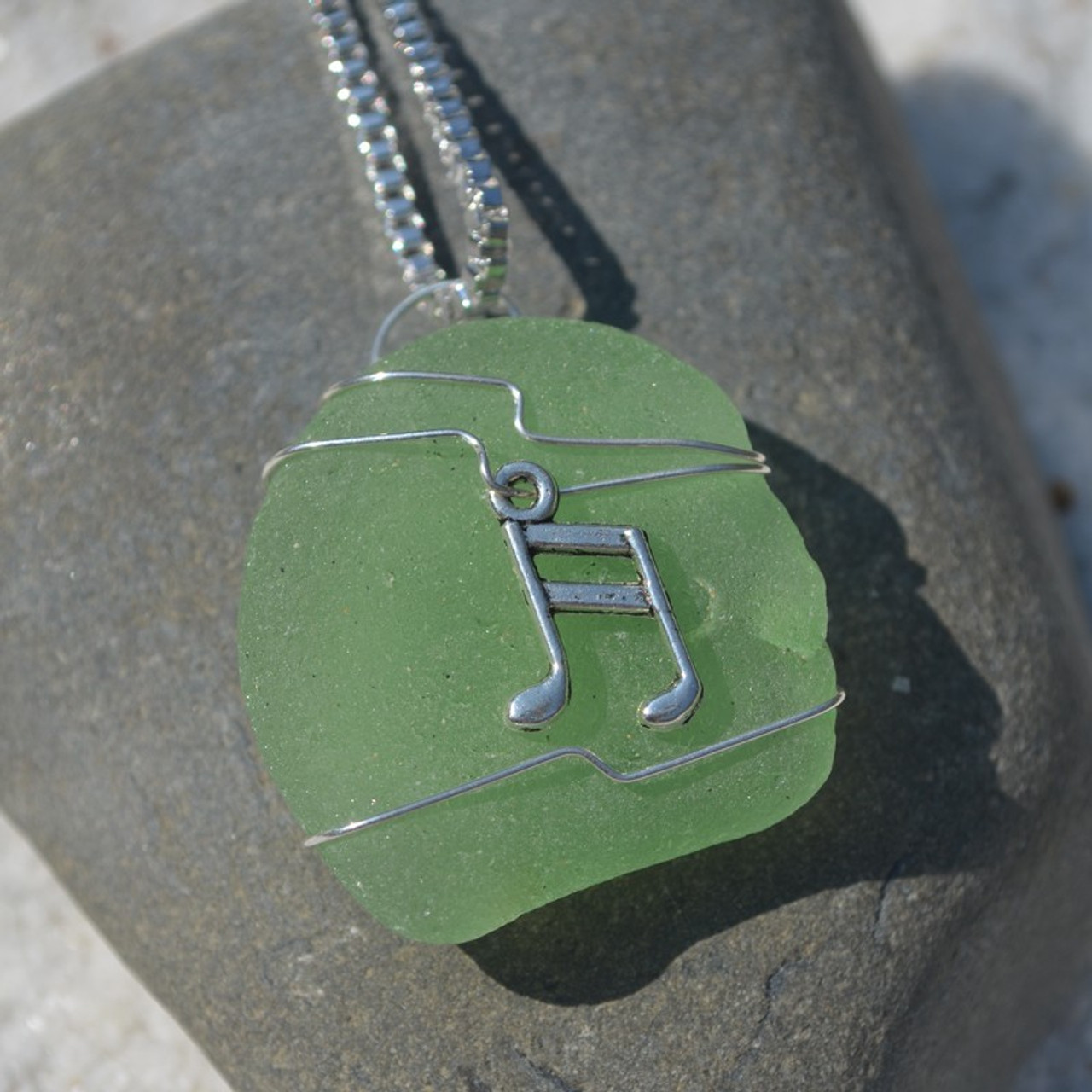 Musical Notes Pendant and Necklace