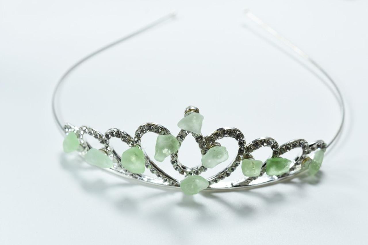 Aqua Sea Glass Crown