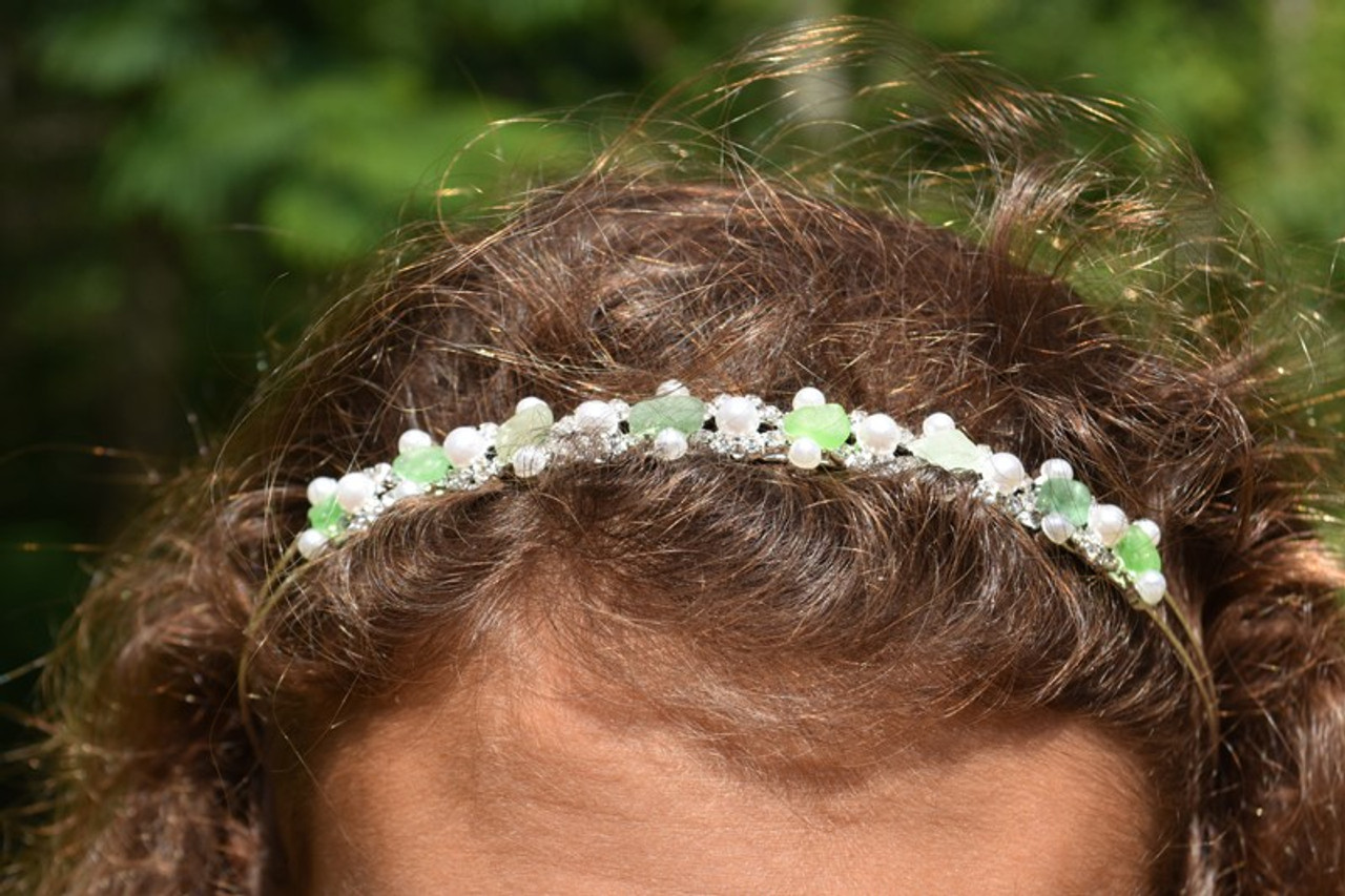 Bridal Sea Glass Headband