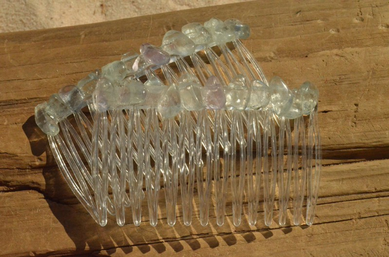 Fluorite Stone Hair Combs