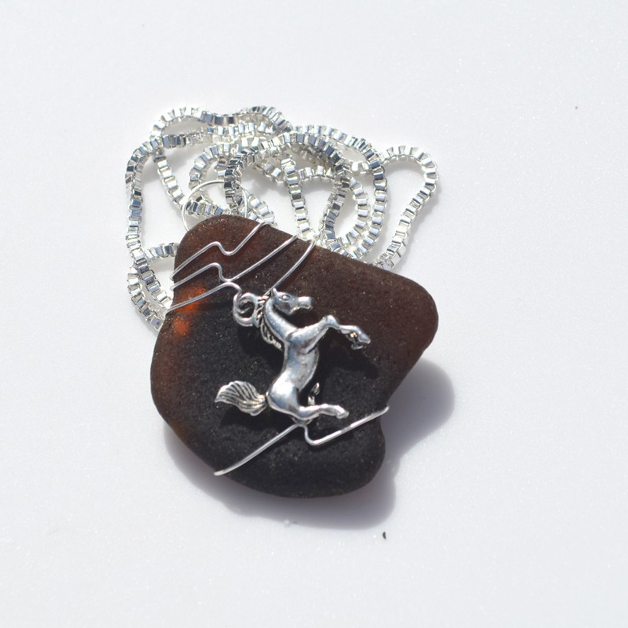 Equestrian Pendant and Necklace