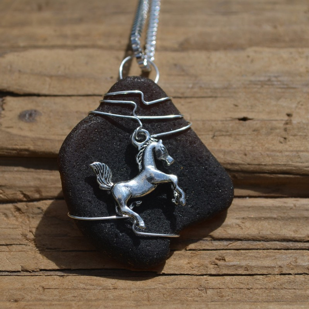 Horse Pendant and Necklace