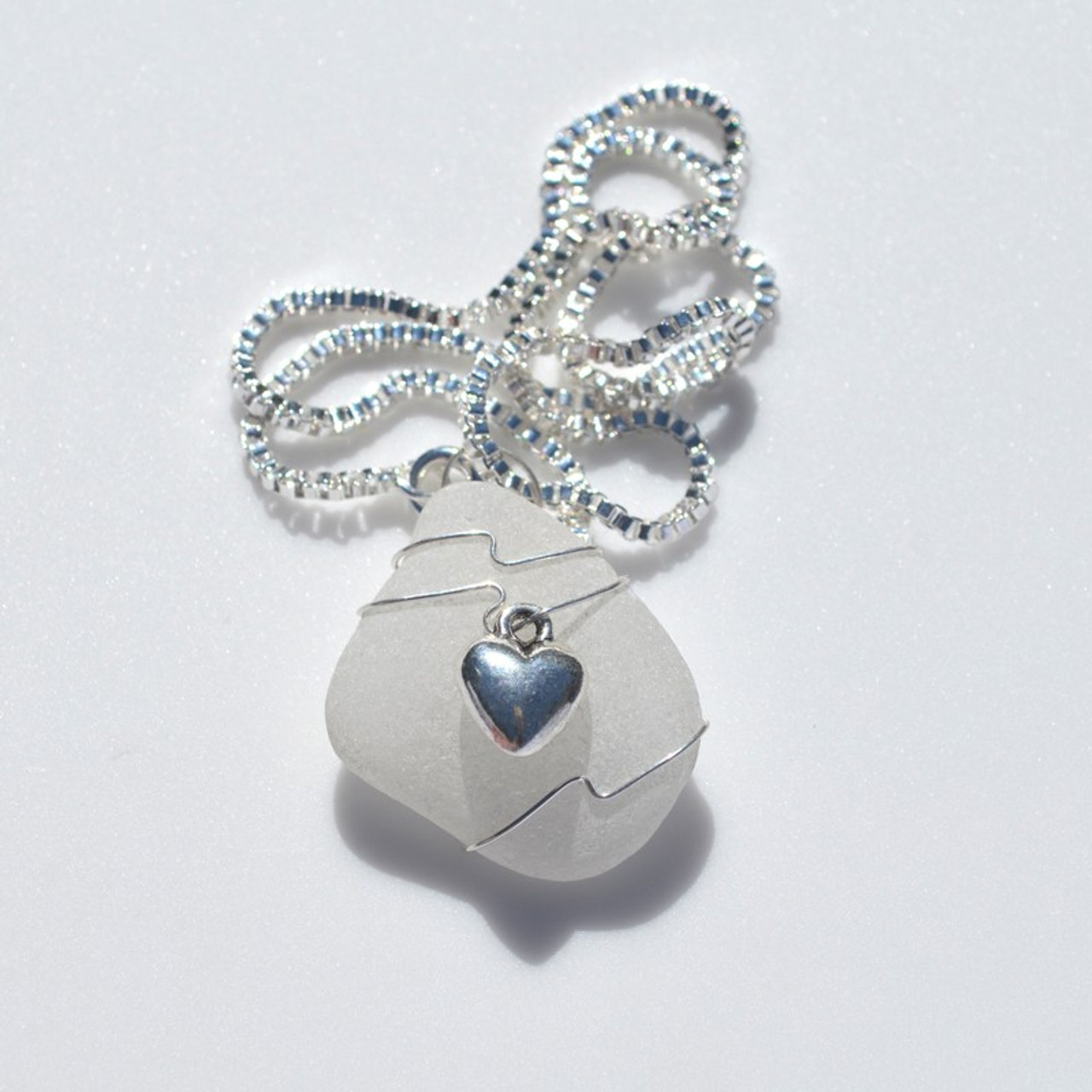 Sea Glass heart Necklace