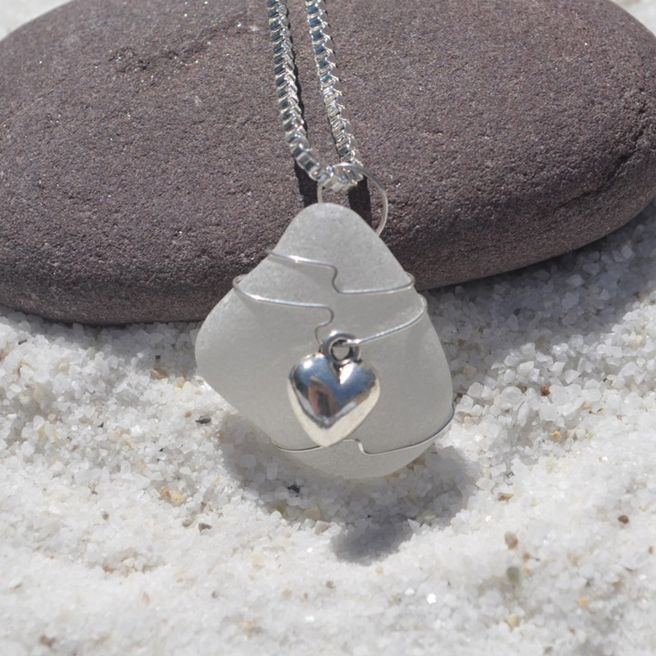 Wire Wrapped Heart Necklace and Pendant