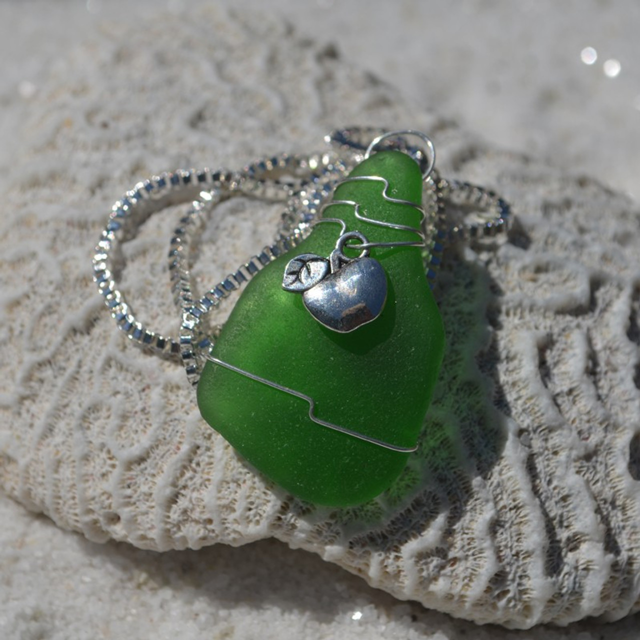 Wire Wrapped Apple Necklace