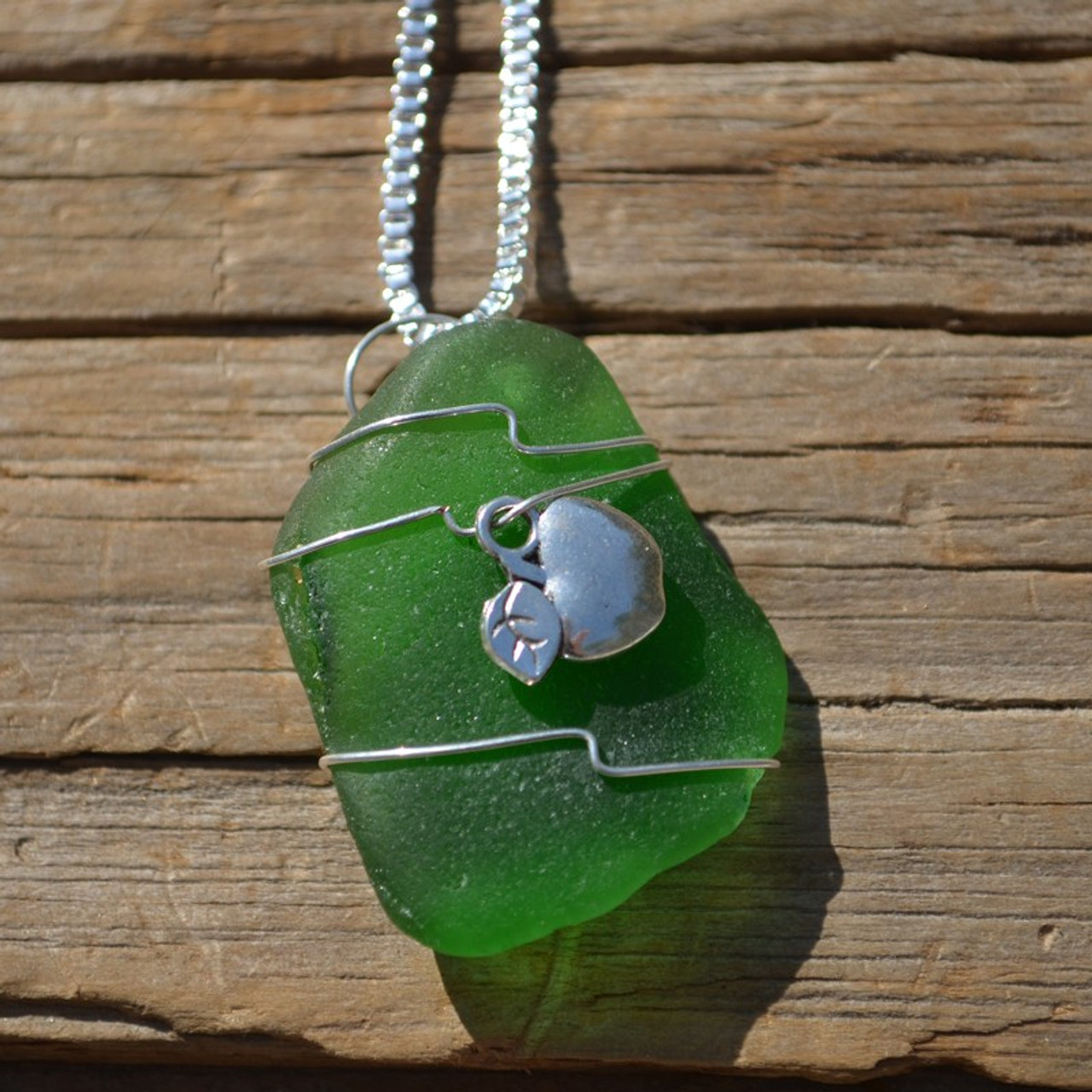 Apple Pendant and Necklace