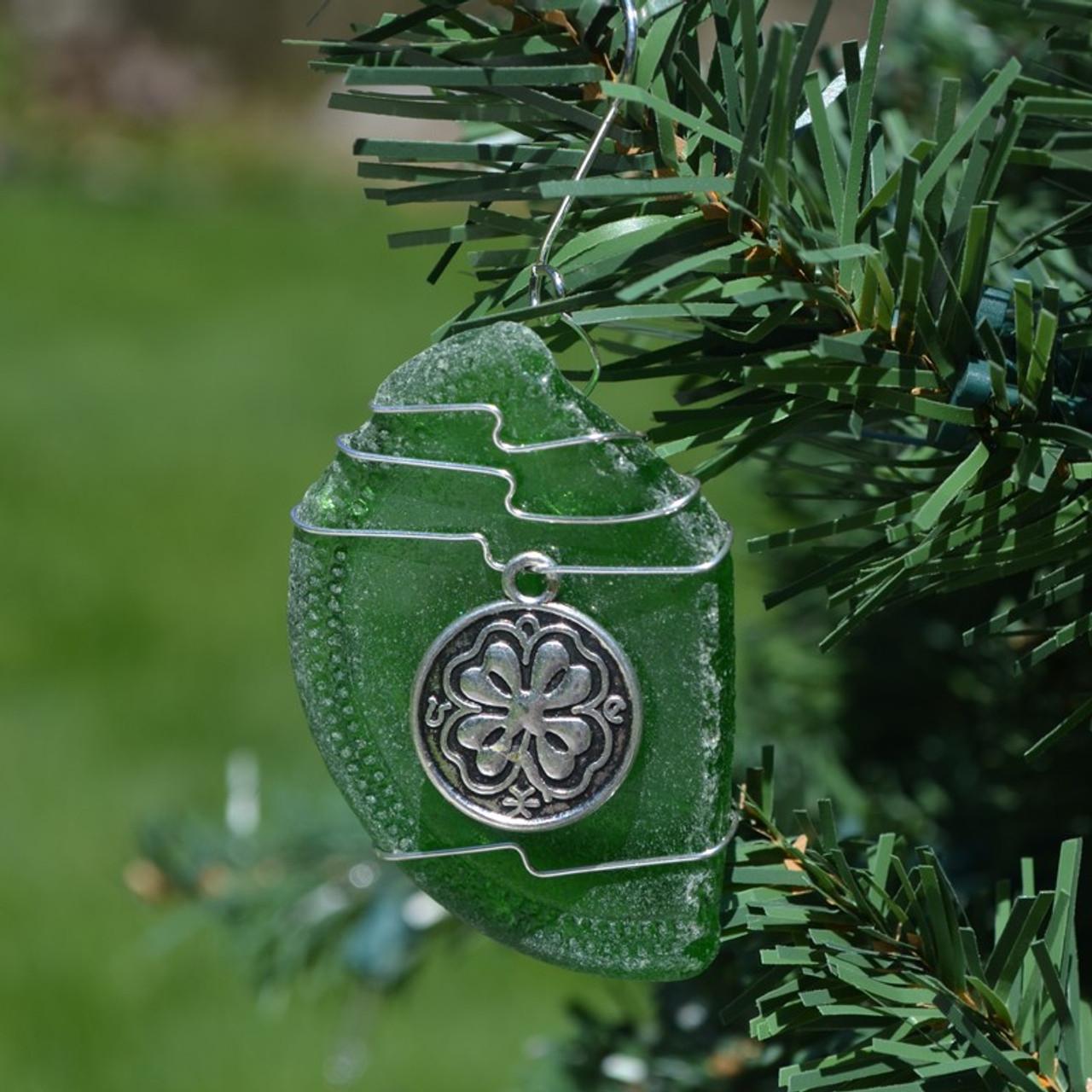 Four Leaf Clover Christmas Ornament