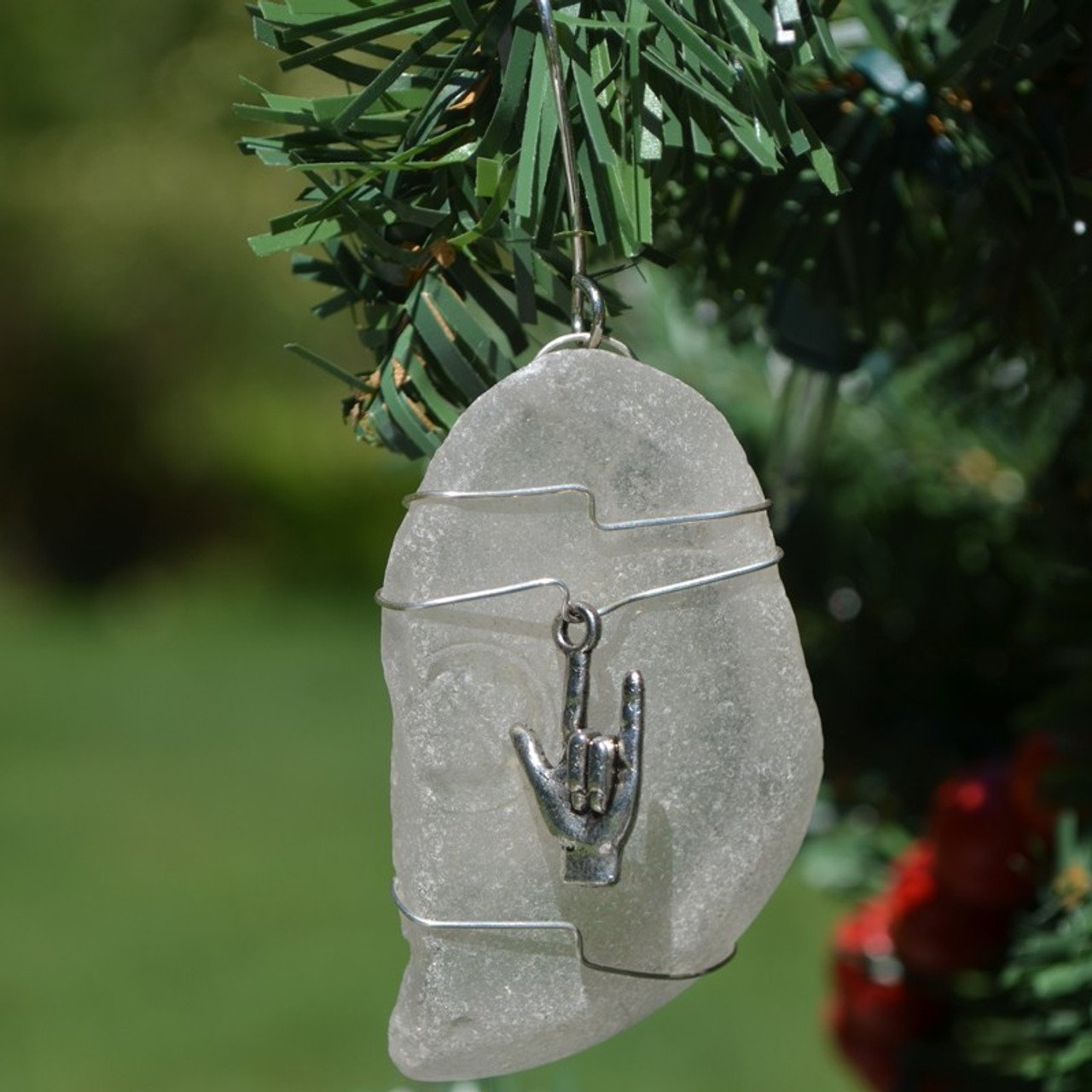 ASL I Love You Christmas Ornament