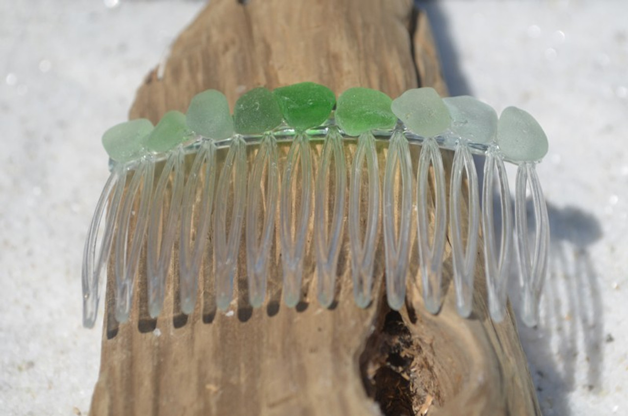 Sea Glass Hair Comb