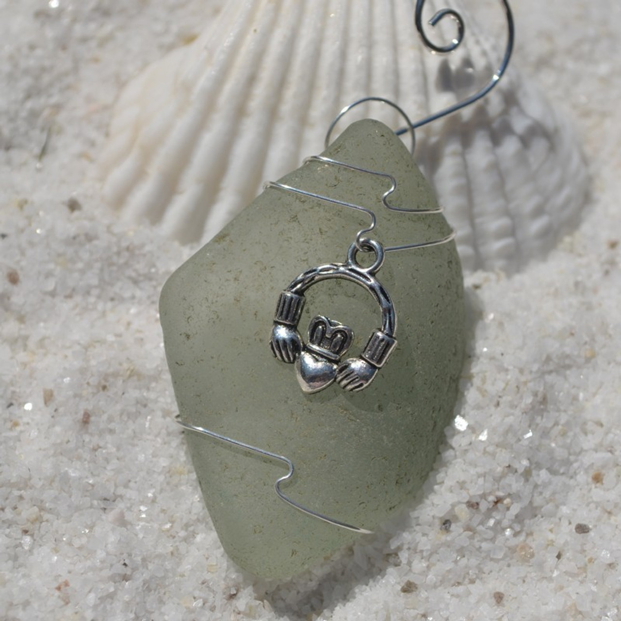 Wire Wrapped Claddagh Christmas Ornament