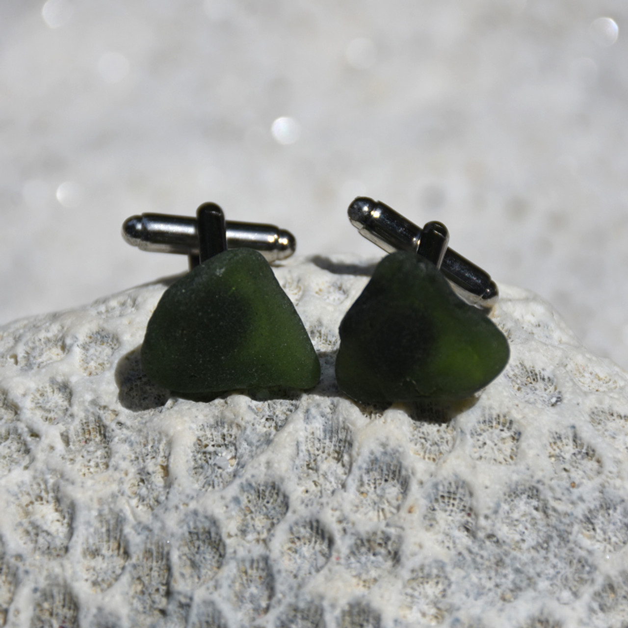 Olive Green Cufflinks