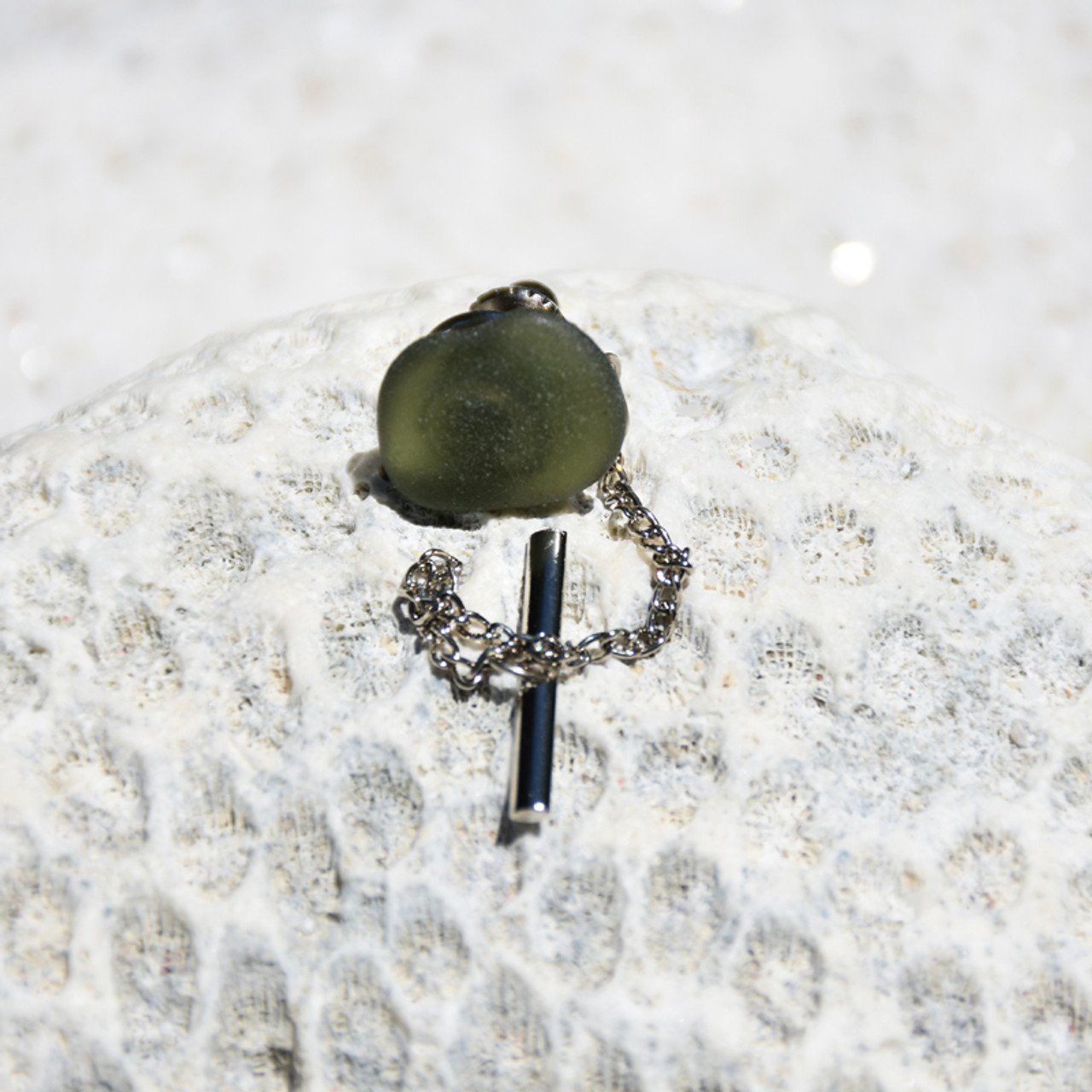 Olive Green Tie Clip