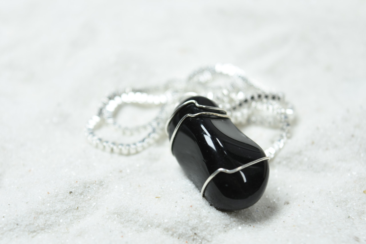 Tumbled Apache Tears Necklace