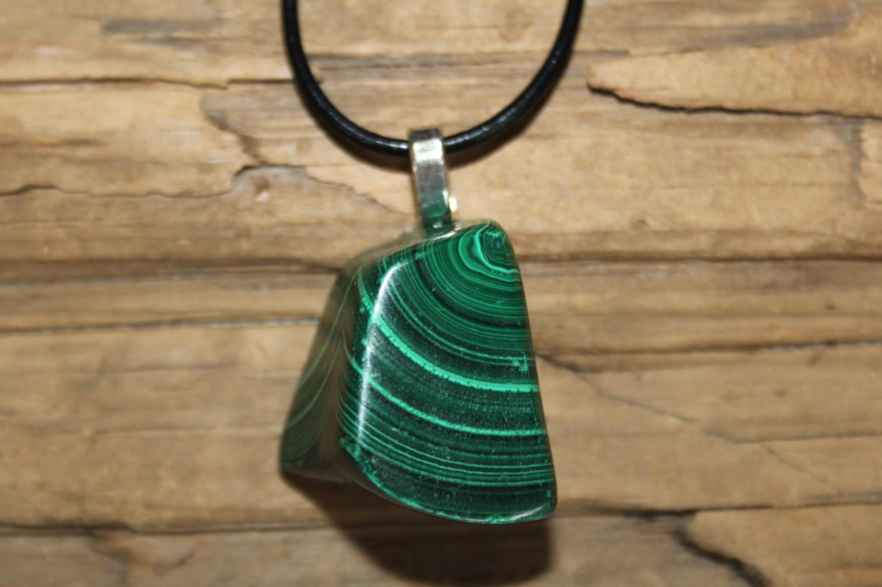 Tumbled Malachite Stone Pendant
