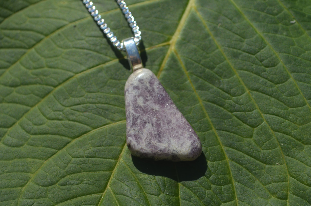 Tumbled Lepidolite Stone Pendant