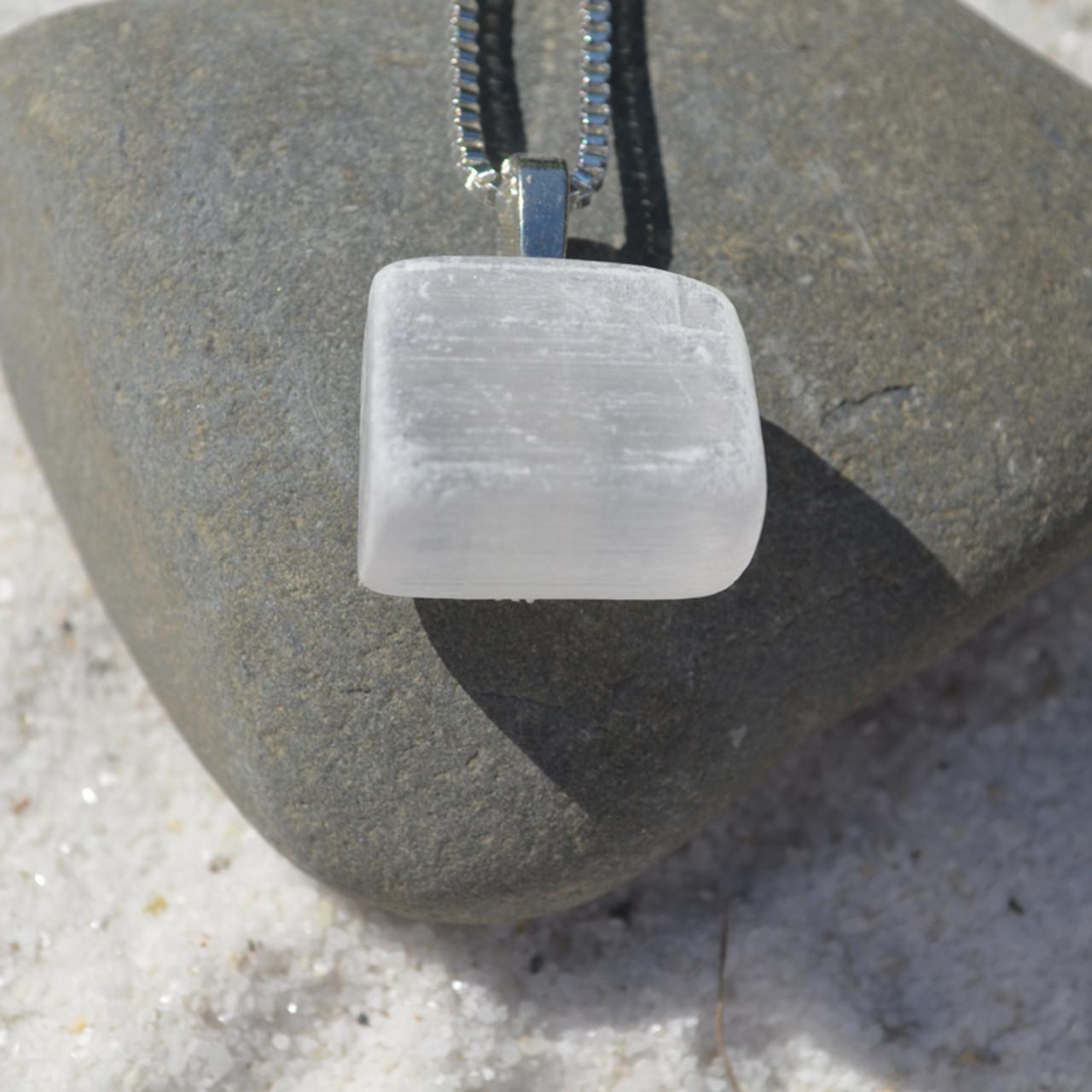 Selenite Stone Necklace