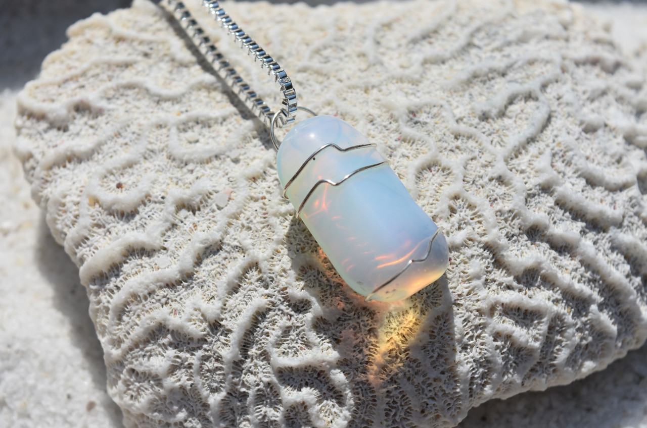 Tumbled Opalite Stone Necklace