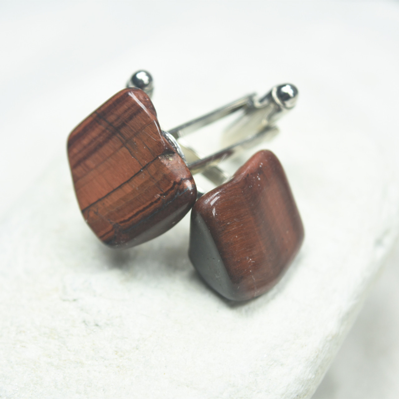 Red Tiger's Eye Cufflinks