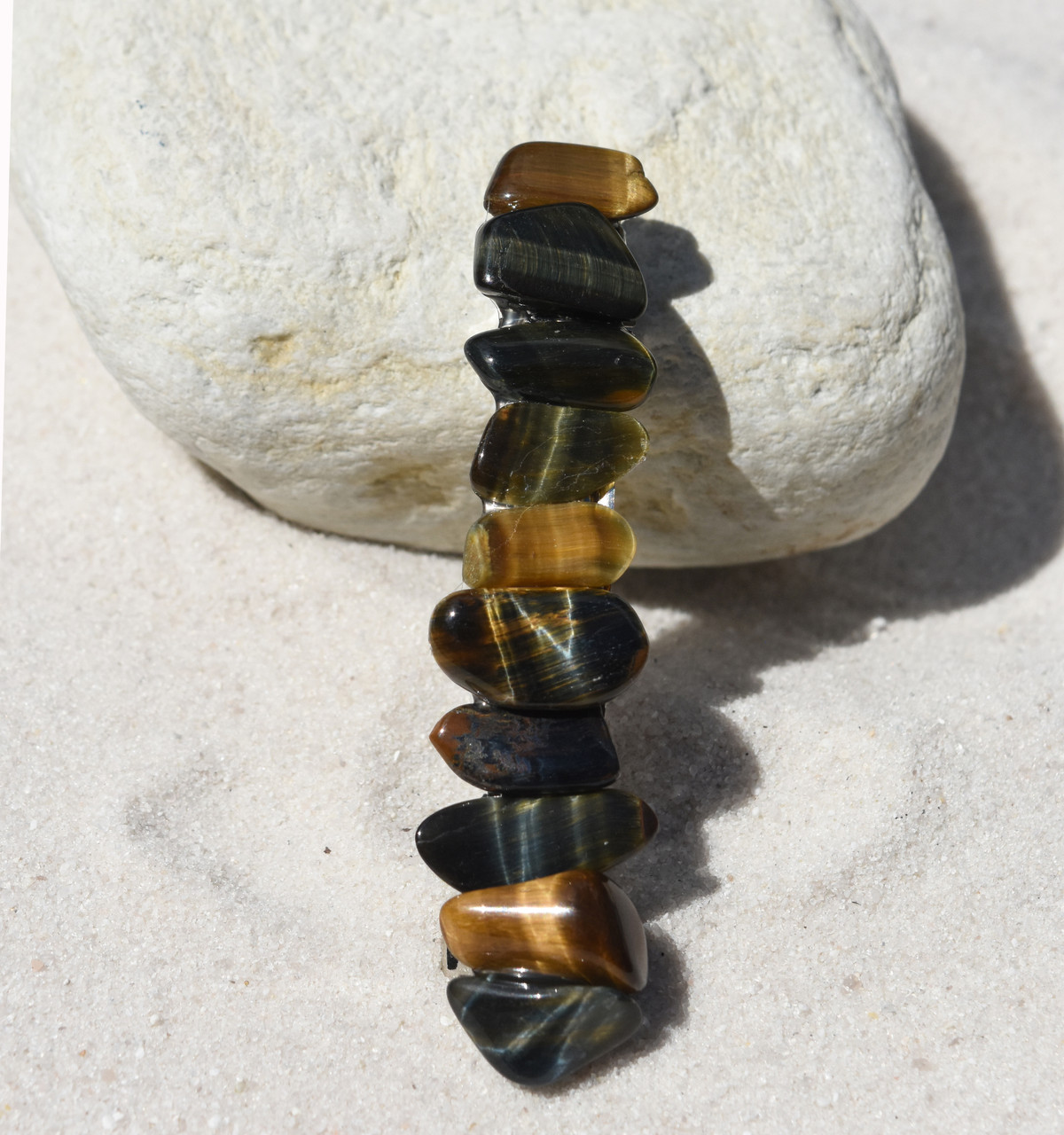 Tiger's Eye Stone French Barrette
