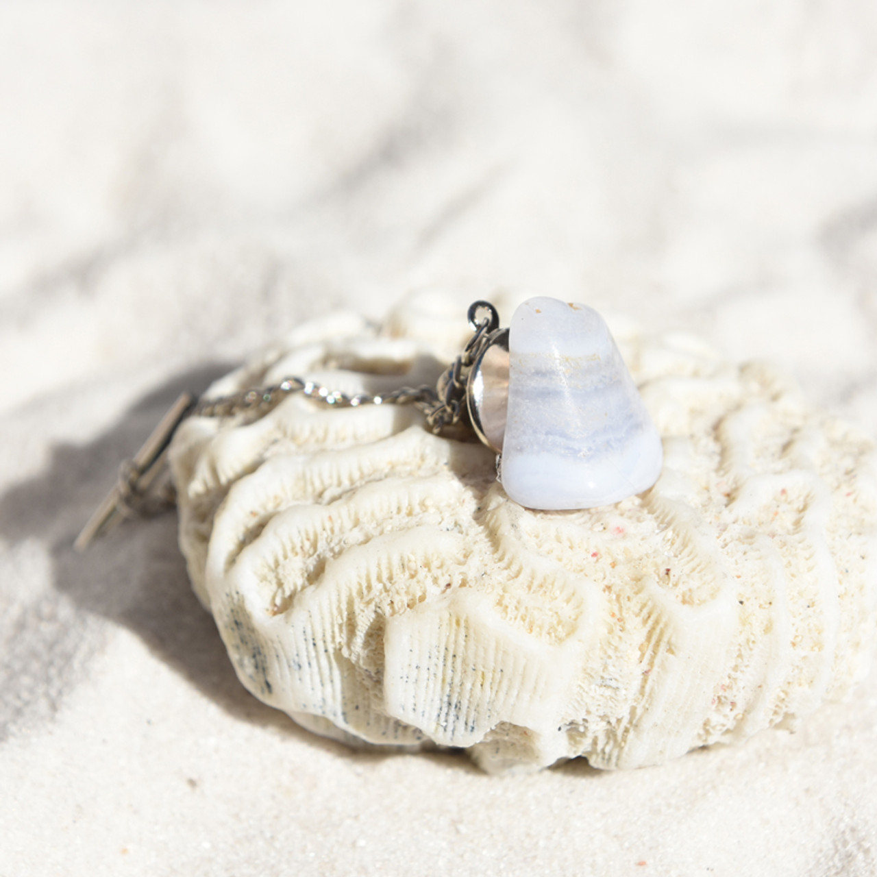 Blue Lace Agate Tie Tack