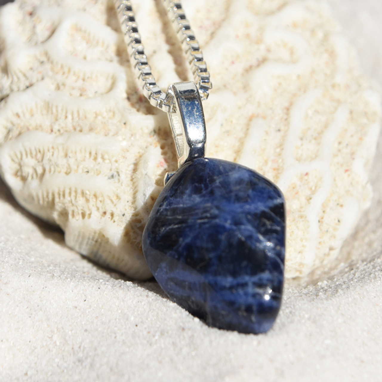 Dumortierite Stone  Pendant