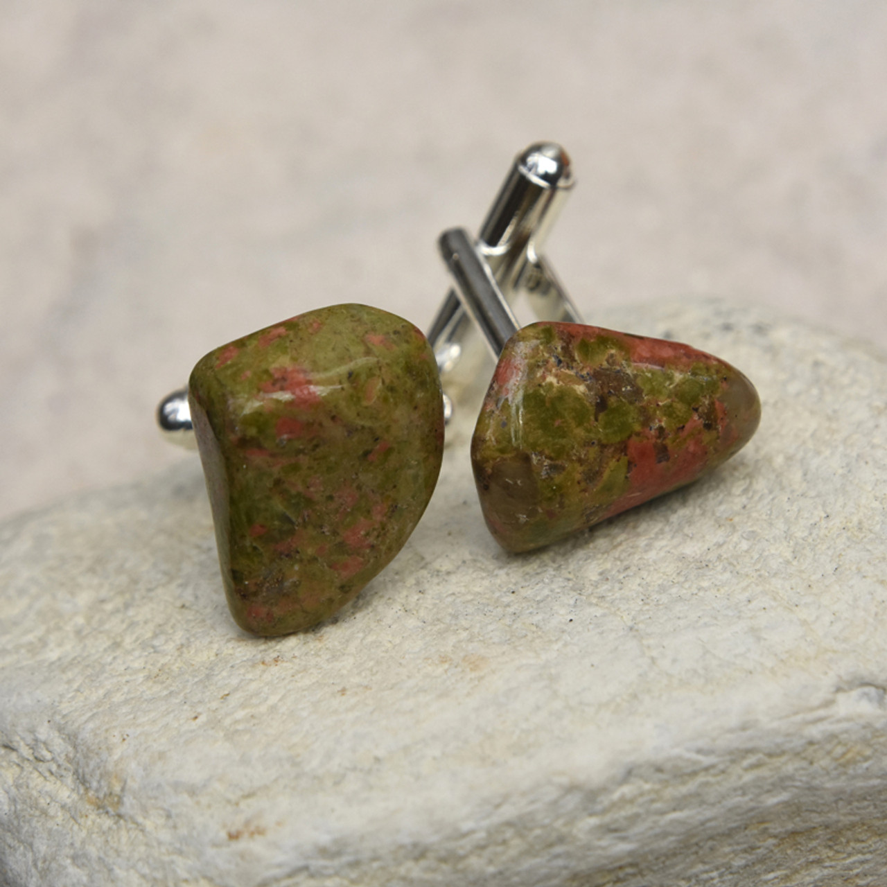 Green and Pink Cufflinks