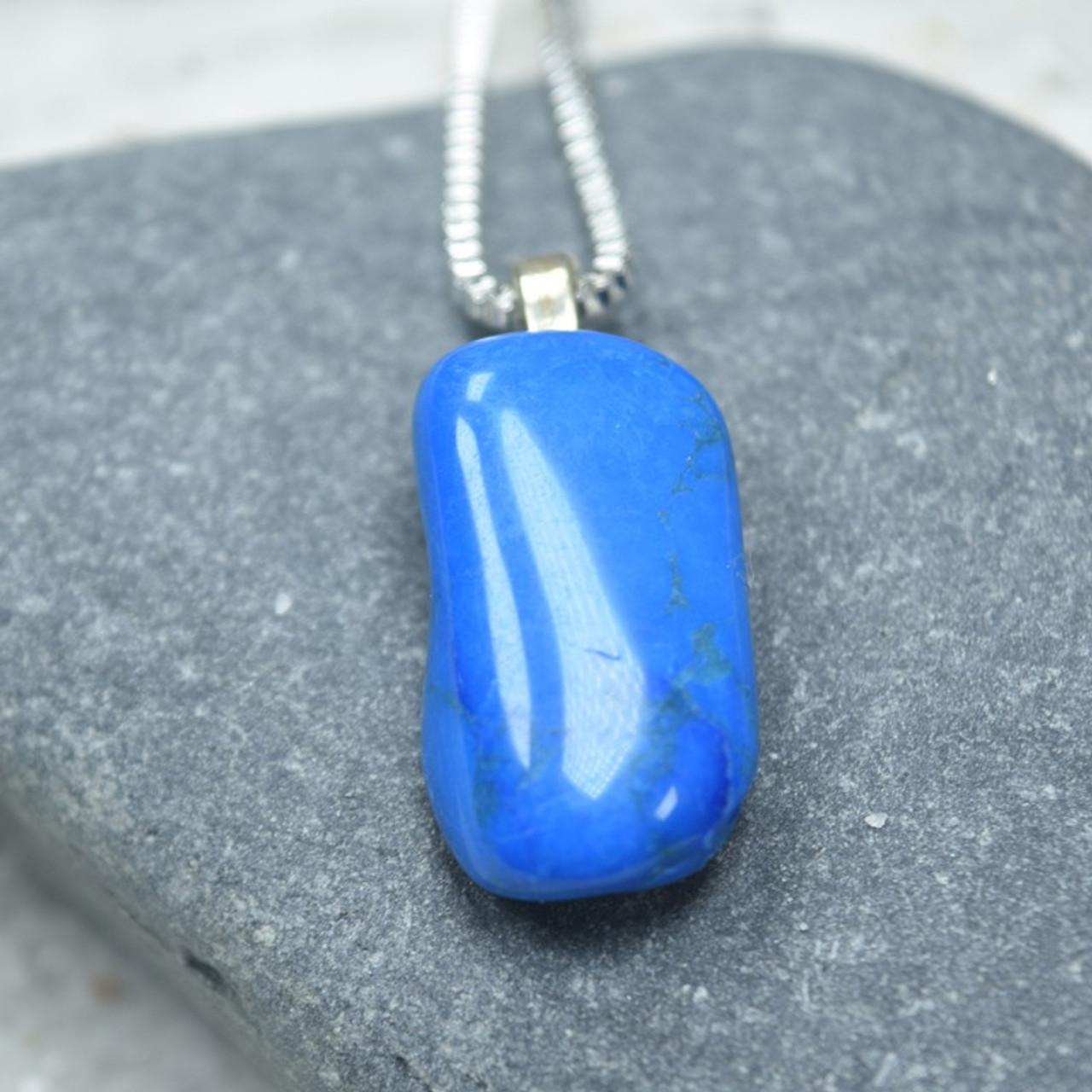 Blue Howlite Stone Pendant