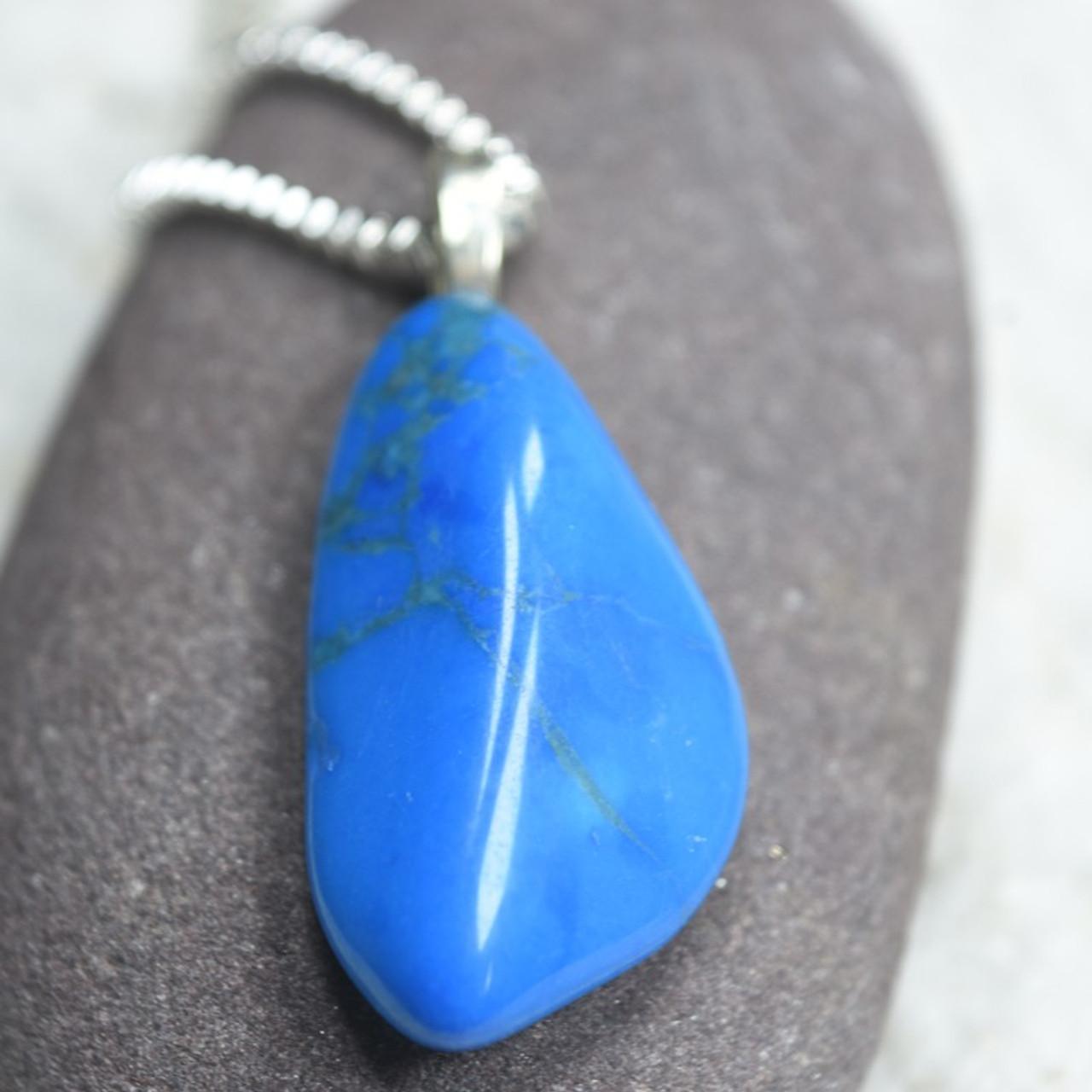 Blue Howlite Stone Necklace