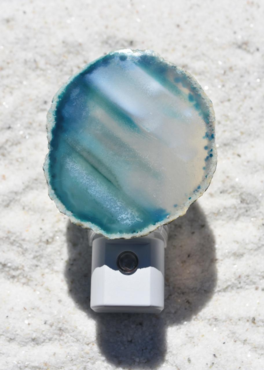 Aqua Sliced Agate Night Light