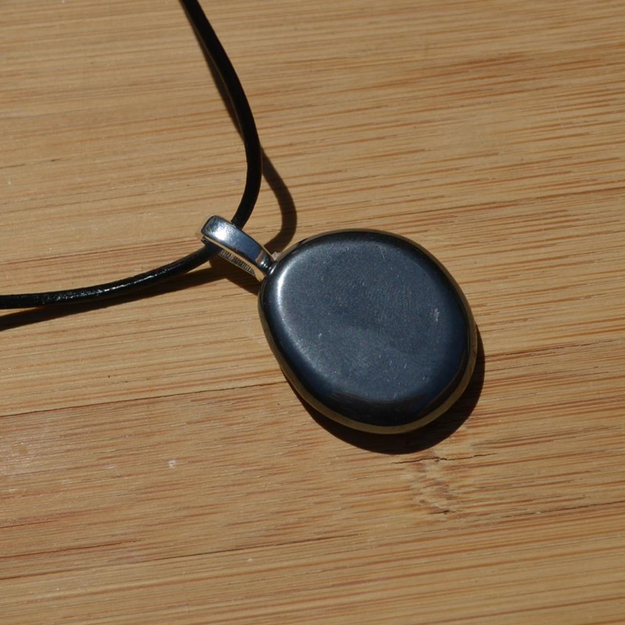 Hematite Palm Stone Necklace