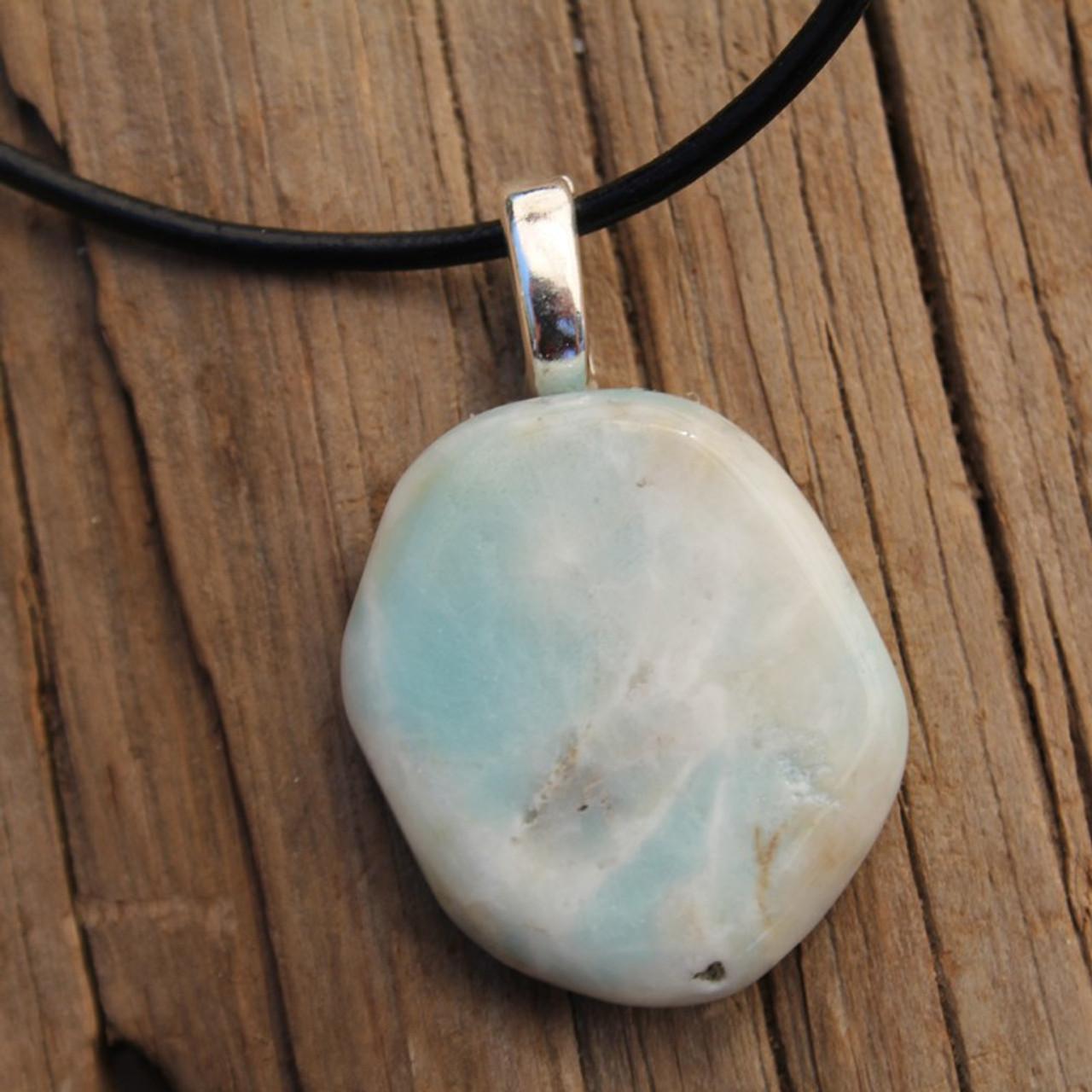 Amazonite Palm Stone Necklace