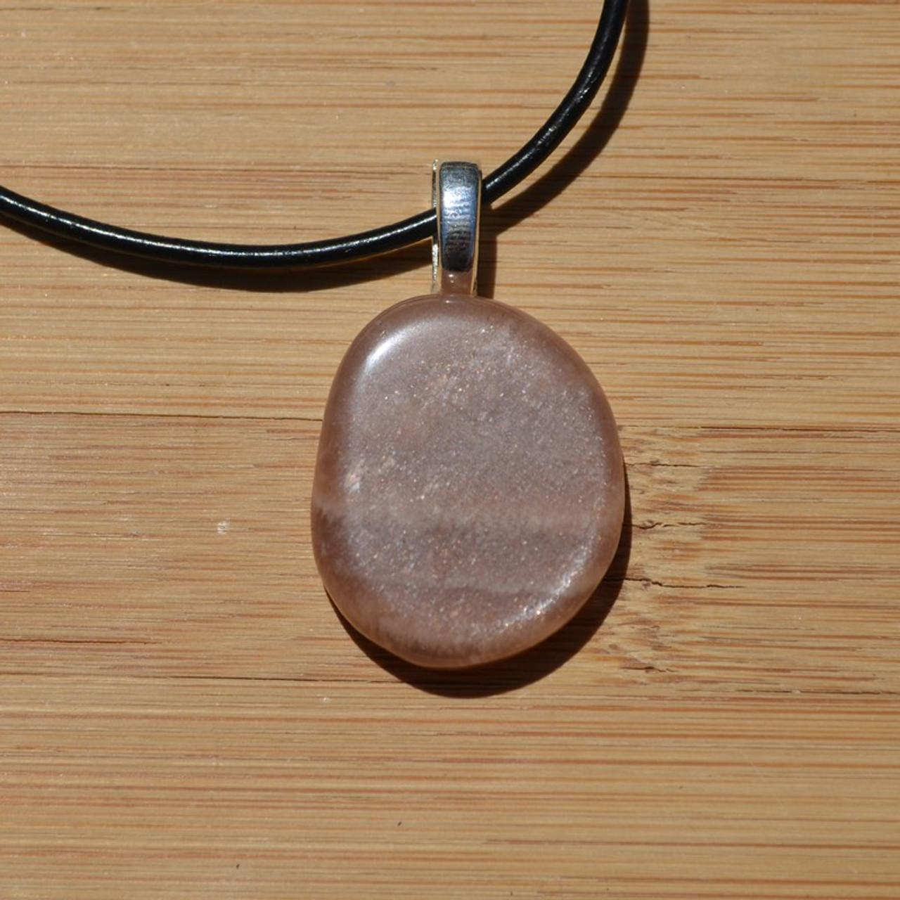 Moonstone Palm Stone Pendant
