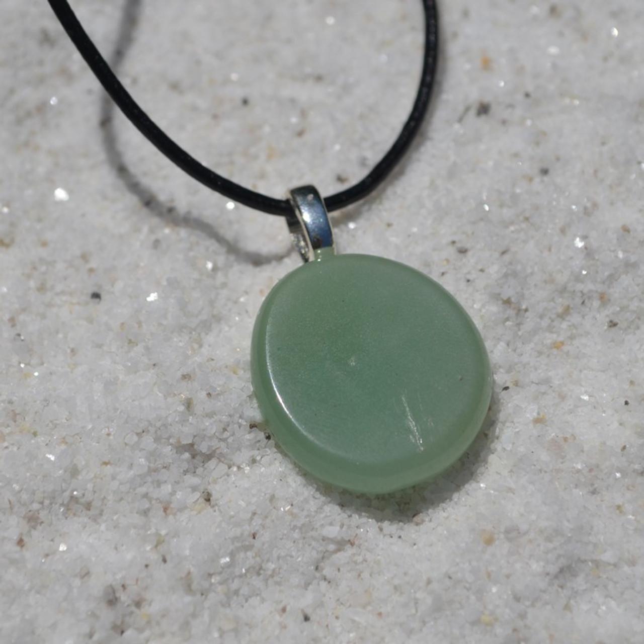 Green Aventurine Palm Stone Pendant