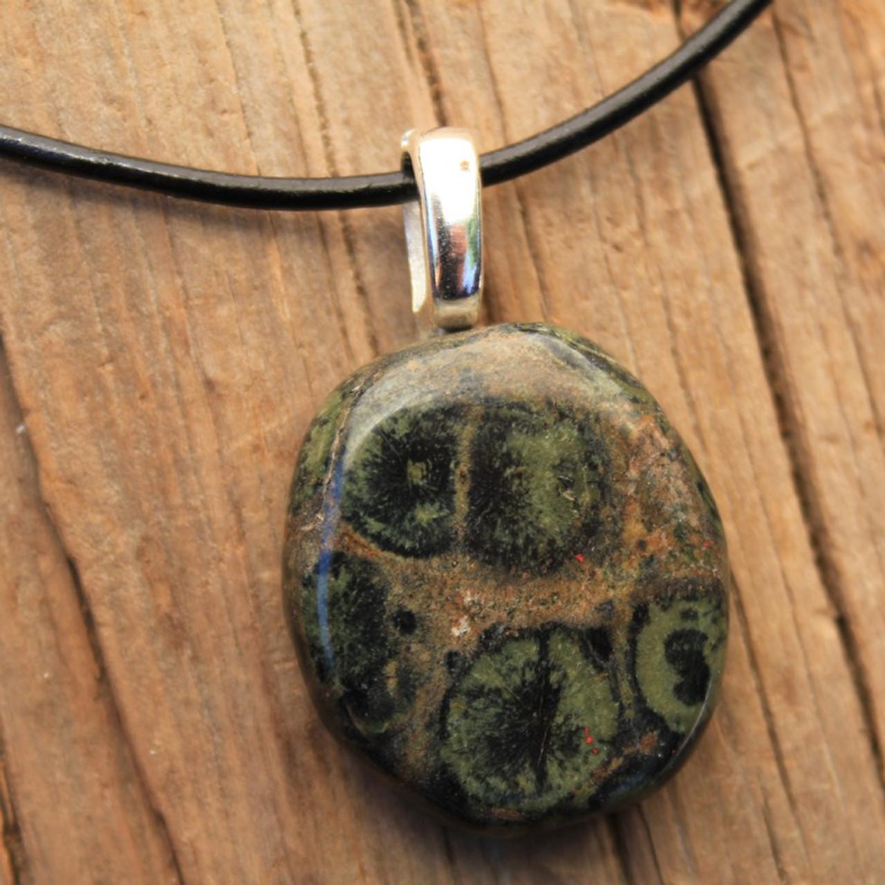 Kambaba Jasper Palm Stone Necklace