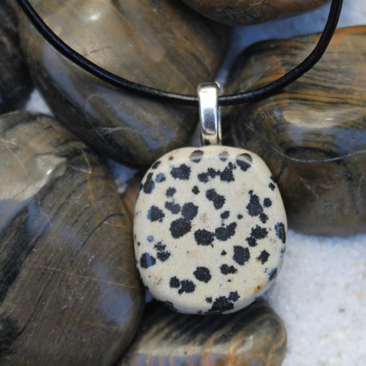 Dalmatian Palm Stone Necklace