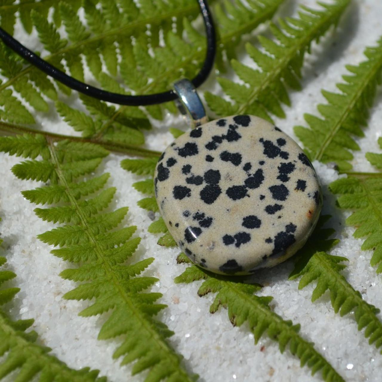 Dalmatian Palm Stone Pendant