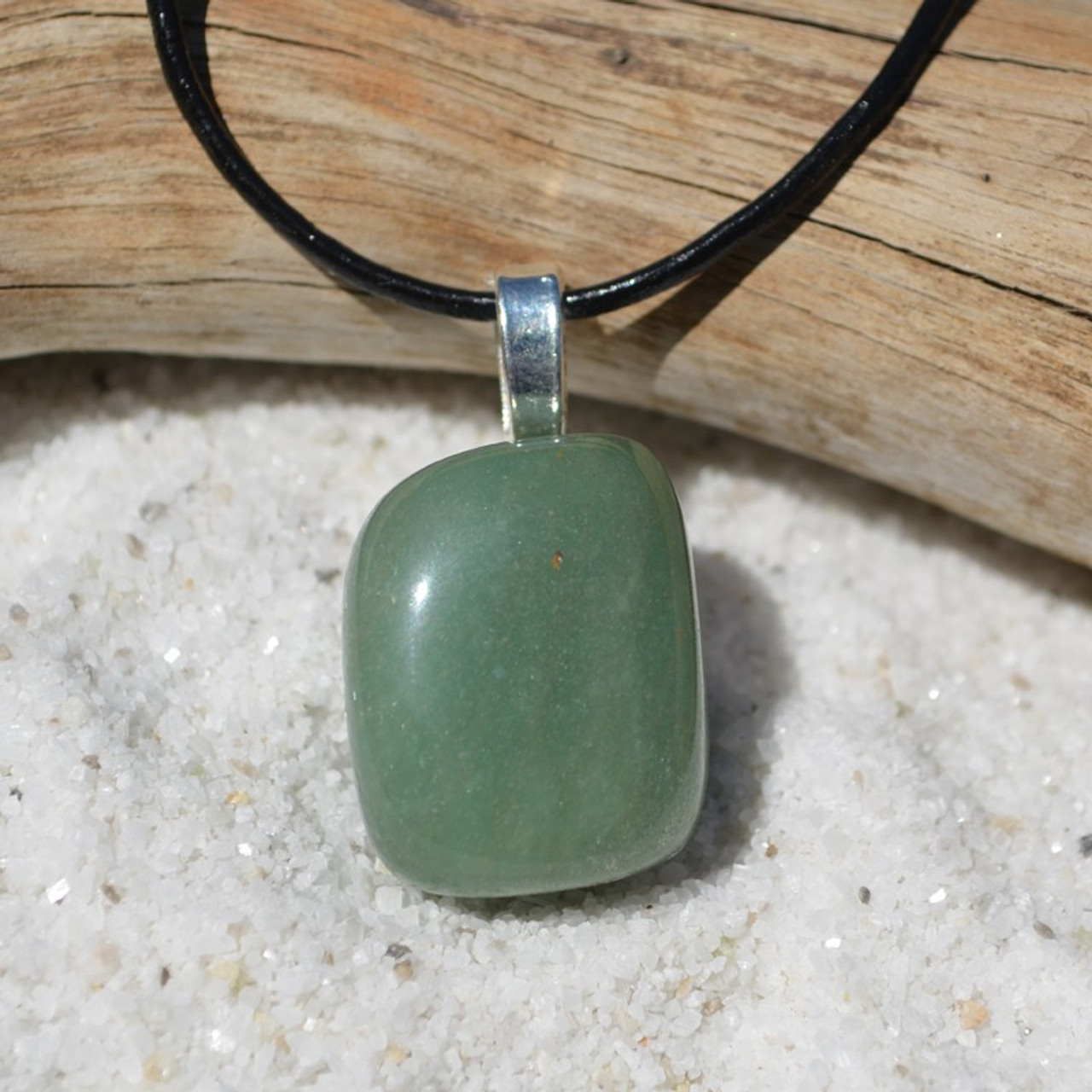 Green Aventurine Pendant and Necklace