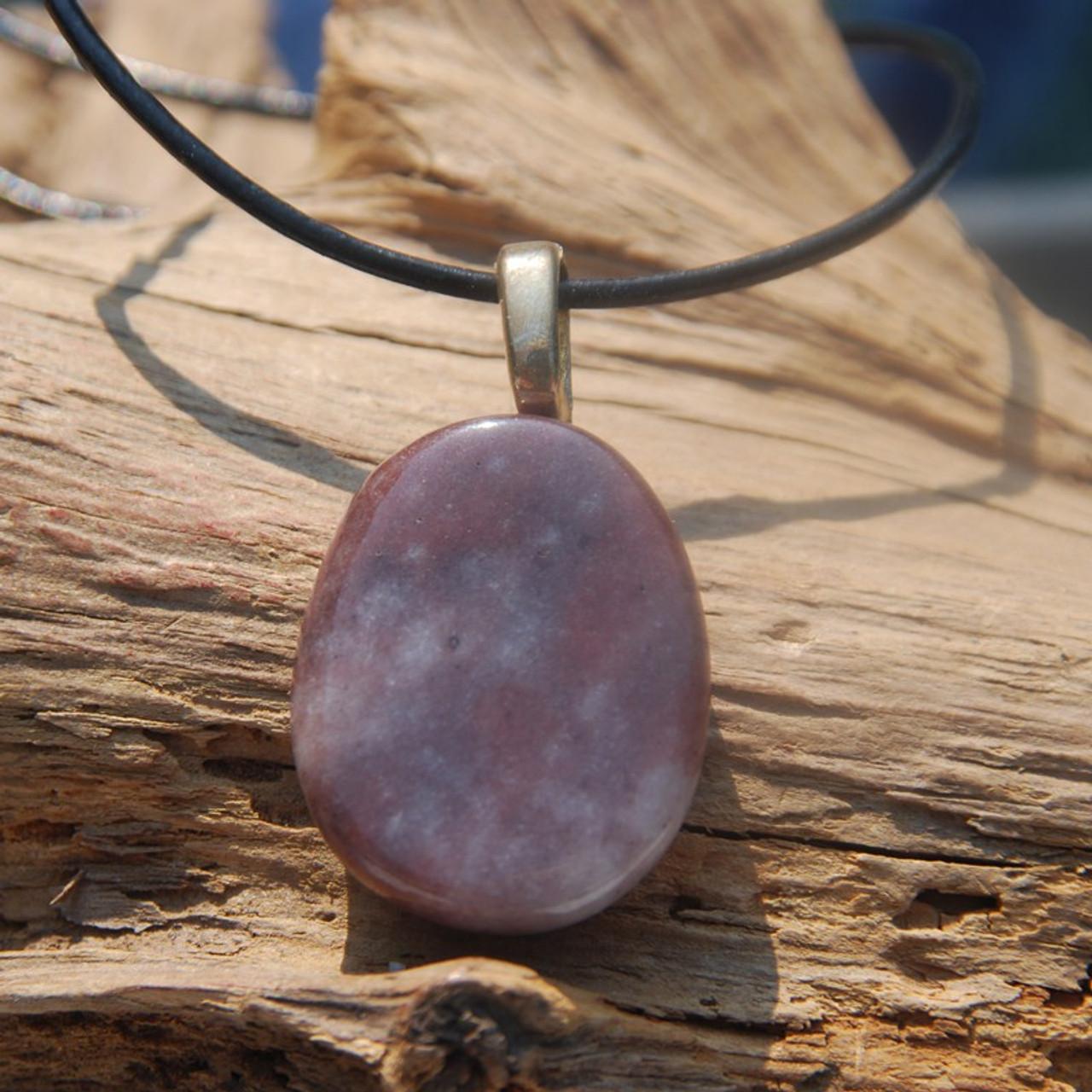 Purple Aventurine Palm Stone Pendant