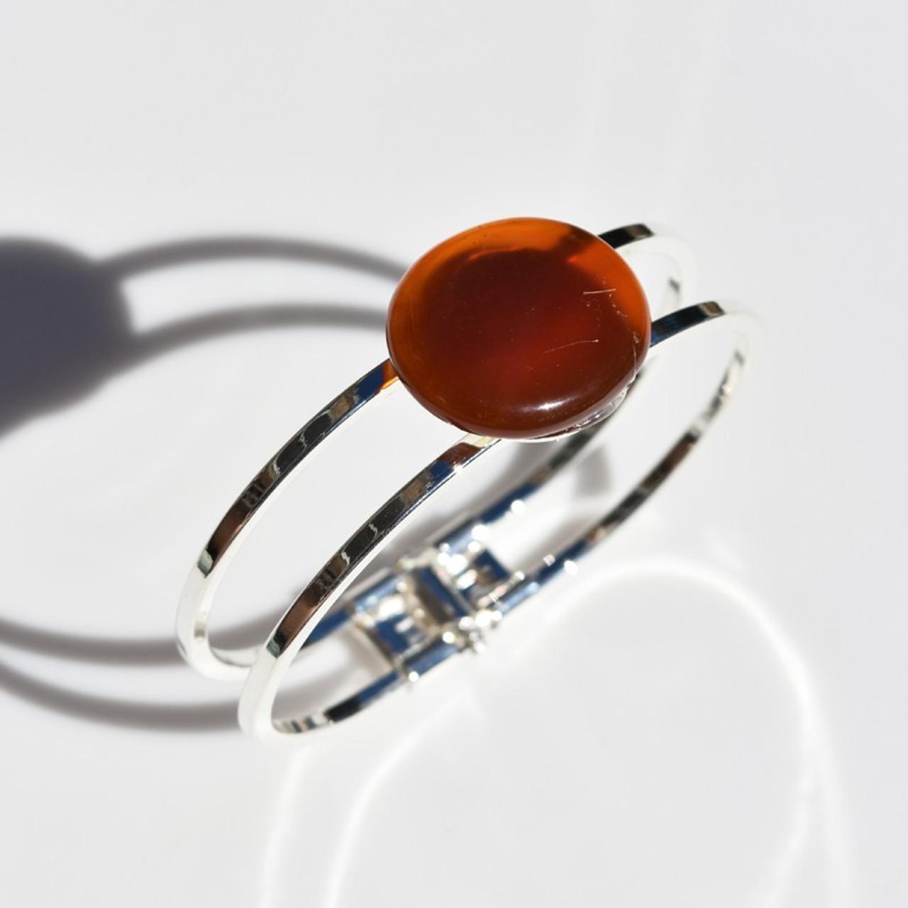 Carnelian Palm Stone Bracelet