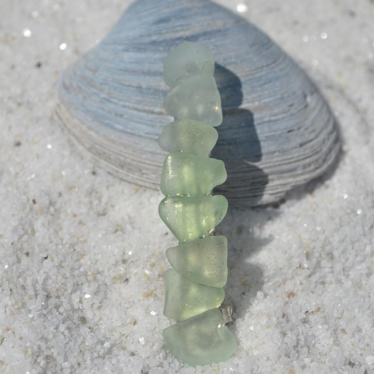 Sea Foam Sea Glass French Barrette