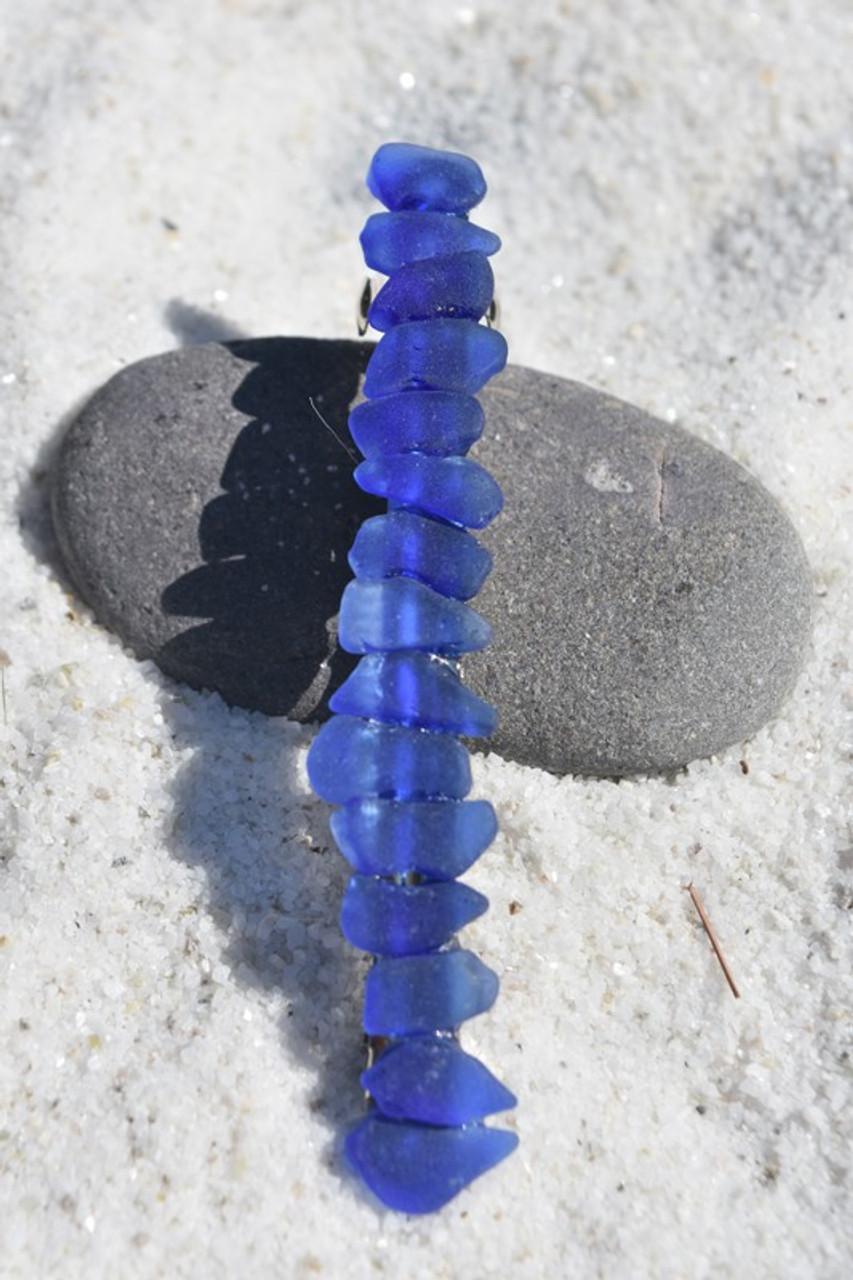 Blue Sea Glass Barrette