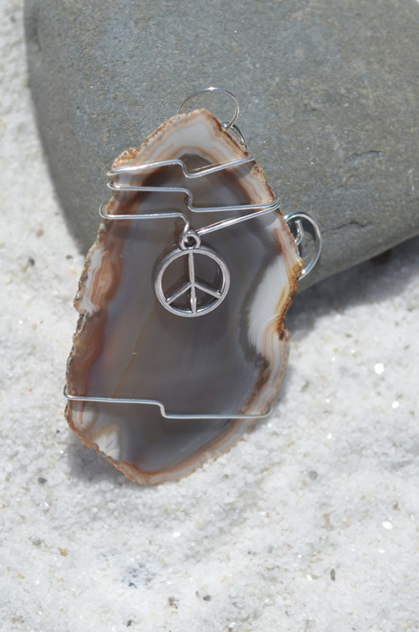 Wire Wrapped Peace Suncatcher